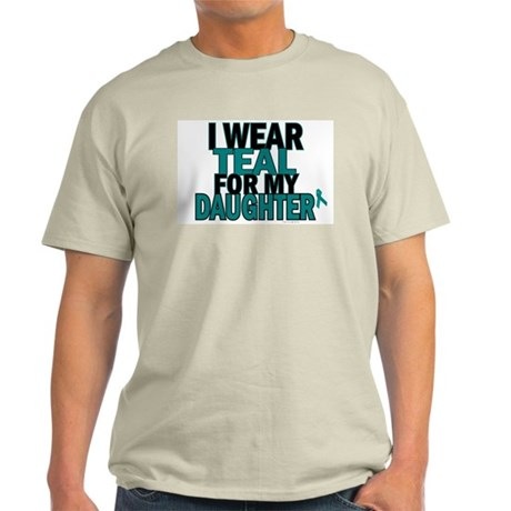 I Wear Teal For My Daughter 5 Light T-Shirt