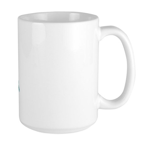 I Wear Teal For My Daughter 5 Large Mug