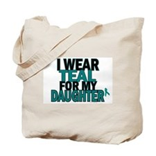 I Wear Teal For My Daughter 5 Tote Bag