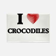 I love Crocodiles Magnets