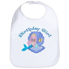 Lil Mermaid Birthday Girl Bib