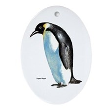 Emperor Penguin Oval Ornament
