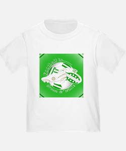 Green and White Football Soccer T-Shirt