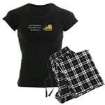 Christmas Bulldozer Women's Dark Pajamas