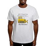 Christmas Bulldozer Light T-Shirt