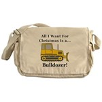 Christmas Bulldozer Messenger Bag