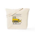 Christmas Bulldozer Tote Bag
