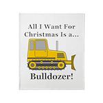 Christmas Bulldozer Throw Blanket