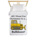 Christmas Bulldozer Twin Duvet