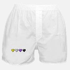 Non-Binary Pixel Hearts Boxer Shorts