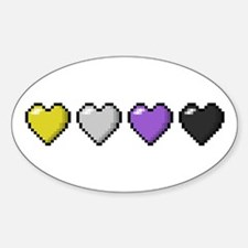 Non-Binary Pixel Hearts Decal