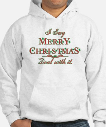 Merry Christmas Deal With It Hoodie