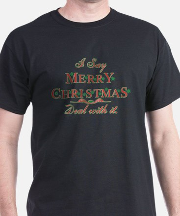 Merry Christmas Deal With It T-Shirt