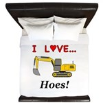 I Love Hoes King Duvet