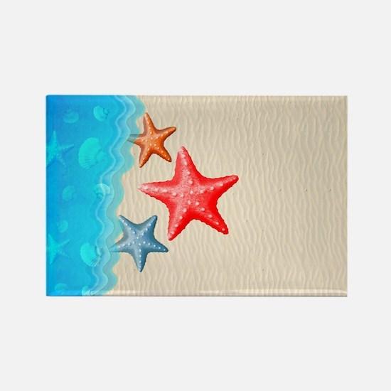 Starfish And Seashells Magnets