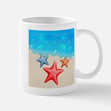 Starfish And Seashells Mugs