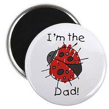 """Ladybug I'm the Dad 2.25"""" Magnet (10 pack)"""