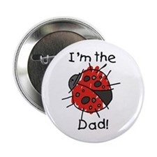 Ladybug I'm the Dad Button