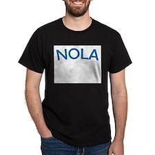 NOLA (Blue) - Ash Grey T-Shirt