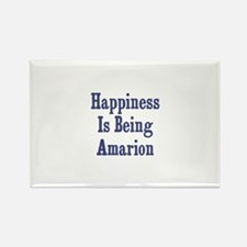 Happiness is being Amarion Rectangle Magnet