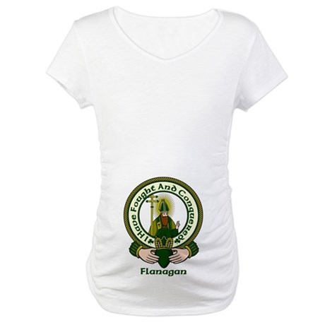 Flanagan Clan Motto Maternity T-Shirt