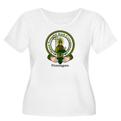 Flanagan Clan Motto Women's Plus Size Scoop Neck T