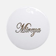 Cute Mireya Round Ornament