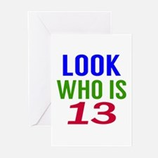 Look Who Is 13 Greeting Cards (Pk of 10)