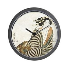 Geisha Tea Ceremony Wall Clock