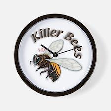 Killer Bees Wall Clock
