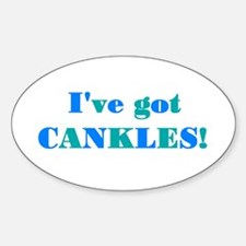 CANKLES! Oval Decal