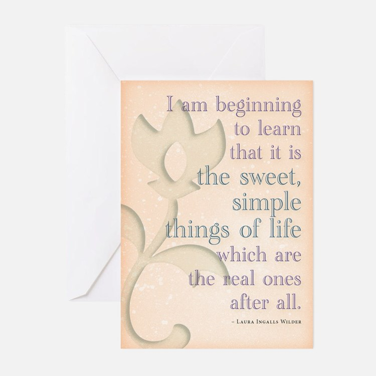 Simple things of life Greeting Cards