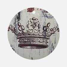 Crown Vintage Round Ornament