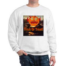 Mona Lisa Trick Or Treat Sweatshirt