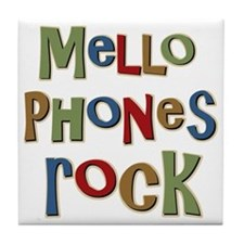 Mellophones Rock Player Lover Tile Coaster