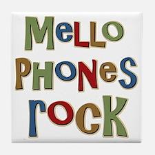 Mellophones Rock Player Lover Tile Coaster