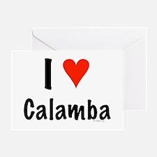 I love Calamba Greeting Card