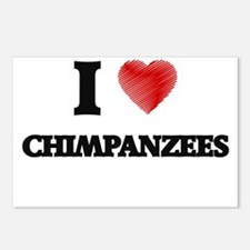 I love Chimpanzees Postcards (Package of 8)