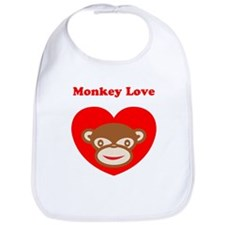 Monkey Love Bib