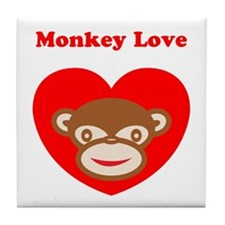 Monkey Love Tile Coaster
