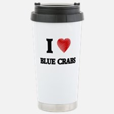 I love Blue Crabs Stainless Steel Travel Mug