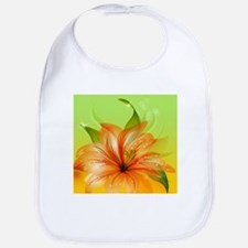 Orange Lily Flower Bib