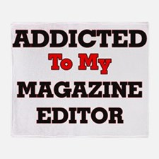 Addicted to my Magazine Editor Throw Blanket