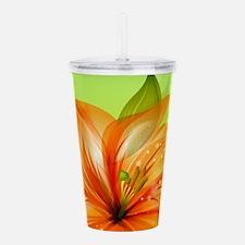 Orange Lily Flower Acrylic Double-wall Tumbler