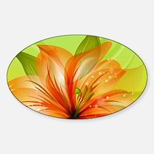 Orange Lily Flower Decal