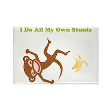 I Do All My Own Stunts Rectangle Magnet
