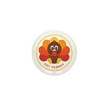 Lil' Turkey Mini Button (100 pack)