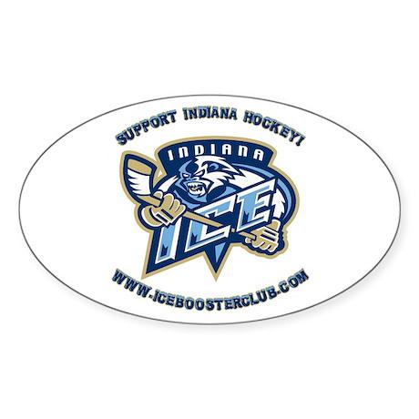 Support Indiana Hockey Oval Sticker