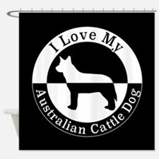 Cute Cattle dog rescue Shower Curtain