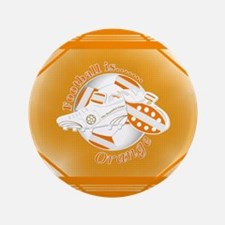 Orange Football Soccer Button